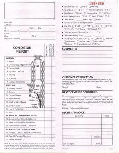 21-point chimney inspection form